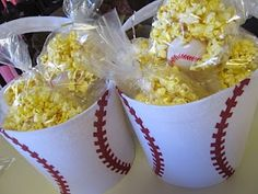 Dollar Tree baseball easter baskets with popcorn bags for the game