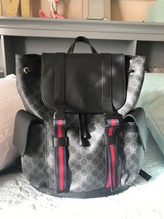 Soft GG Supreme backpack Gucci Bag  fashion  clothing  shoes  accessories   mensaccessories  bags (ebay link) 337a7c4cf9