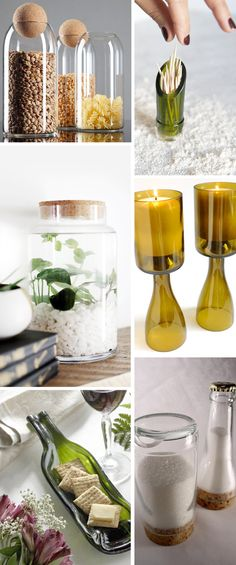 27 Ideas for diy home decor crafts upcycling wine bottles 27 Ideas for diy home decor crafts upcycling win Liquor Bottles, Bottles And Jars, Glass Bottles, Cutting Wine Bottles, Bottle Cutting, Glass Bottle Crafts, Wine Bottle Art, Bottle Bottle, Recycle Wine Bottles