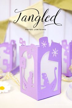 FREE Tangled Paper Lantern - Designs By Miss Mandee. At last I see the light... These lanterns are simple exquisite! Perfect for the Disney-loving bride or Tangled obsessed child. SVG cut file and pdf printable included.