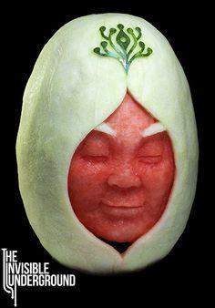 """Yukia"" watermelon sculpture"