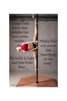 "Download your FREE copy of ""100 Affirmations for Your Pole Dance Journey"" here! http://www.learn-pole-dancing.com/affirmations-for-pole-dancers.html"