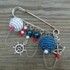 New brooch in a nautical style.