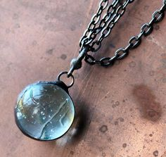 Marble Orb  Stained Glass Jewelry Necklace  Vintage by LAGlass, $24.50  #ibhandmade