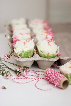 orange coconut cupcakes | Lulu & Georgia