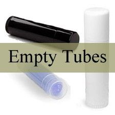 Empty Lip Balm Tubes (Available in Black, White or Clear Stick) Starting at $.05 / Unit