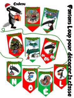 Décoration de Noël - Fanions Loup Advent Calendar, Playing Cards, Games, Holiday Decor, Winter, Christmas, Kids, French Immersion, Ms Gs