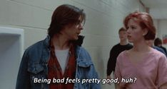Bender and Claire -- The Breakfast Club