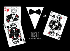"""Tuxedo"" Playing Cards Printed by MPC (Limited Edition) only 250 decks printed!"