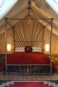 Safari Tents..For those who seek a more traditional camping experience but with some of the creature comforts of home, our 26 classic safari tents are the answer.