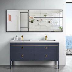 Modern Aluminum Alloy Thin Framed Full Length Floor Mirror - On Sale - Overstock - 30393628 - 71x31x1 - Gold Full Length Floor Mirror, Mirror Shapes, Wall Mounted Vanity, Wall Installation, Black Decor, Home Decor Outlet, Aluminium Alloy, Thing 1, Flooring