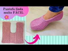 Folded Slippers Free Tutorial - Design Peak Lace Knitting, Knitting Stitches, Knitting Patterns Free, Knitting Socks, Crochet Patterns, Start Knitting, Knit Slippers Free Pattern, Crochet Slipper Pattern, Knitted Slippers