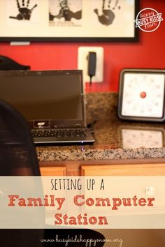 Tips for setting up a family computer station.  Do you keep your electronics centralized in your home?