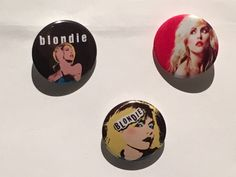 Blondie - Debbie Harry - Set of 3 Pin Badges