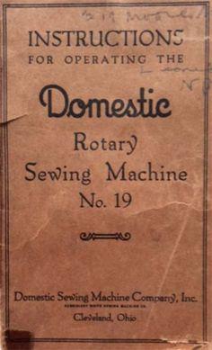 Various PDF antique sewing machine manuals