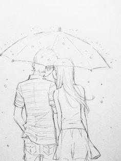 in love drawings Pencil Art Drawings, Art Drawings Sketches, Love Drawings, Easy Drawings, Romantic Drawing, Cute Couple Drawings, Beauty Illustration, Anime Sketch, Love Art