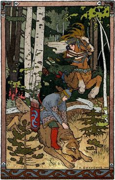 Ivan Bilibin - artist inspired by Russian fairy tales and Slavic folklore Art And Illustration, Art Populaire Russe, Folklore Russe, Russian Folk Art, Fairytale Art, Inspiration Art, Fantasy Art, Book Art, Fairy Tales