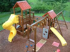 A photo of the playset behind the preschool.   I Like This, I Like This, Great Picture, {also|by the way|if yo