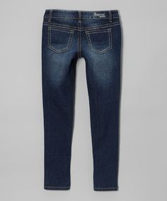 Take a look at this Request Jeans Villanova Wash Zipper Utility Skinny Jeans - Girls on zulily today!