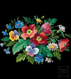 Crewel Embroidery, Needlepoint, Cross Stitch Patterns, Needlework, Folk, Floral Wreath, Miniatures, Flowers, Pictures