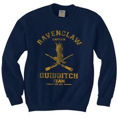 Équipe de Quidditch de Ravenclaw de capitaine Sweat-shirt unisexe S-3XL par geekspride sur Etsy https://www.etsy.com/fr/listing/214951743/equipe-de-quidditch-de-ravenclaw-de