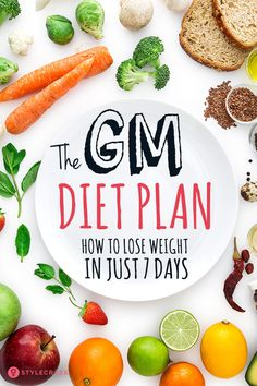 The GM Diet Plan: How To Lose Weight In Just 7 Days plans plans to lose weight recipes adelgazar detox para adelgazar para adelgazar 10 kilos para bajar de peso para bajar de peso abdomen plano diet Weight Loss Diet Plan, Fast Weight Loss, How To Lose Weight Fast, Weight Gain, Losing Weight, Loose Weight, Body Weight, Gm Diet Plans, Gm Diet Plan Menu