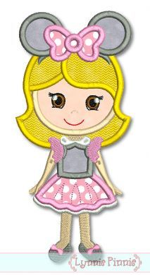 See It All - Mouse Costume Girl 4x4 5x7 6x10 - Welcome to Lynnie Pinnie.com! Instant download and free applique machine embroidery designs in PES, HUS, JEF, DST, EXP, VIP, XXX AND ART formats.