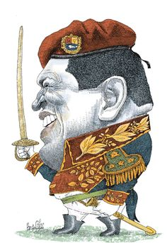 Hugo Chávez re-re-reelecto 2012 - Pancho Cajas Political Cartoons, Ecuador, Goal, Mona Lisa, Portrait, Funny, Presidents, Celebrity Caricatures, Drawings
