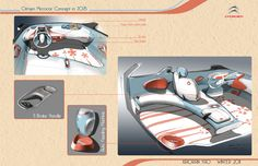 Citroen Micro Car Concept for Young Females by Roy  Xiaoran Yao, via Behance