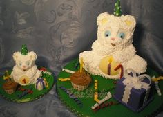 First Birthday Bear and Smash Cake