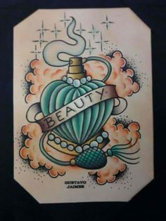 Perfume bottle    i LOVE this picture!!! it's also on my tattoo board :)