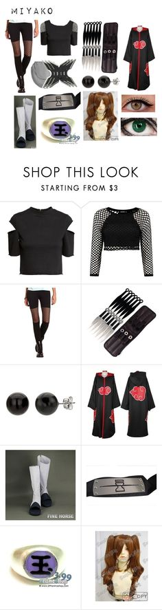 """""""Naruto (Oc)"""" by doodlebob3 ❤ liked on Polyvore featuring H&M, Boohoo, Charlotte Russe and Madara"""