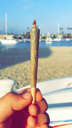 Long spliff on the beach