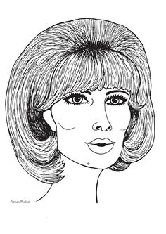 Dusty Springfield illustration by Clare and the Bear. ALL RIGHTS RESERVED. #clareandthebear #clareannenield #dustyspringfield #musician #icon #art #artist #illustration #portrait  #fashion