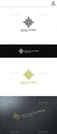 Royal Flower Logo — Vector EPS #decorative #corporation • Available here → https://graphicriver.net/item/royal-flower-logo/9005578?ref=pxcr