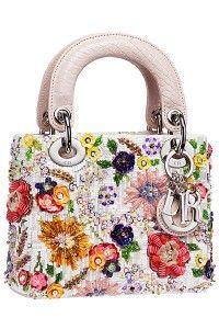 Dior Floral Beaded Lady Dior Mini Bag  #dior #handbags