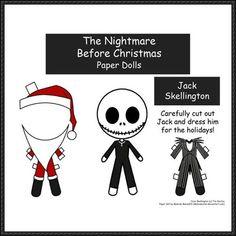 Halloween - Jack Skellington Dress Up Free Papercraft Download