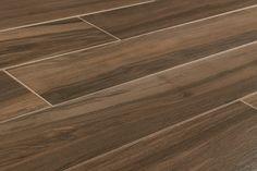 "Salerno Porcelain Tile - Urban Wood Series - Dark Brown / 8""x48"""