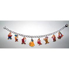 Snow White and the Seven 7 Dwarfs Disney Charm Bracelet Grumpy, Doopey... (25 AUD) ❤ liked on Polyvore featuring jewelry, bracelets, disney, dwarf, snow white, charm bangle, charm bracelet bangle, clear jewelry and disney jewellery