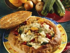 Stuffed Flatbread Pizza Recipe