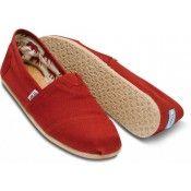 Toms rote Leinwand Herren classic Schuhe in Deutschland