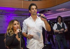Jets Players and NYC Celebs Joined Eric & Jessie James Decker on a Cruise Around New York to Raise Money for the Eric & Jessie Decker Foundation.