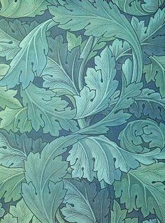 Acanthus wallpaper design by William Morris, 1873