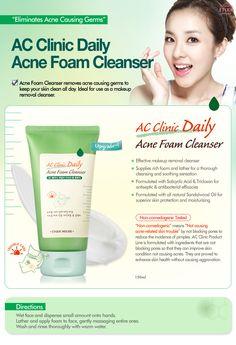 Etude House Korea Jakarta: Etude House AC Clinic Daily Acne Foam Cleanser 150...