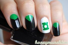 Green Lantern #nailart halloween