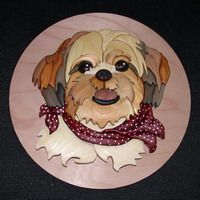 CORBEILINTARSIA.COM plan intarsia chien shih tsu - dog intarsia pattern