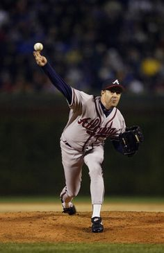 The were the start of greatness for the Atlanta Braves . It was the start of division titles, where the staple for the Braves was pitching. Throughout the decade, the Braves won a total of 925 games. Braves Baseball, Sports Baseball, Baseball Players, Baseball Tips, Baseball Star, Greg Maddux, Famous Sports, Willie Mays, Sports