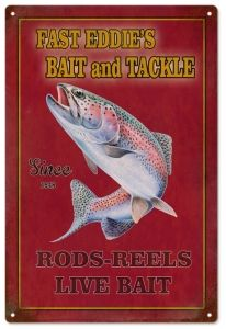 Fast Eddies Bait and Tackle Sign -