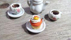 Candy Corn Cupcake Charm Handmade Jewelry Food by AndisaCharmsShop