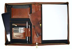 Gift for him Leather portfolio Leather document bag leather
